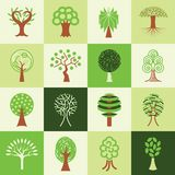 Tree icons vector set Stock Image