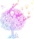 The tree of ideas vector  Stock Photography