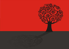 Tree illustration royalty free stock images