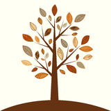 Tree. Illustration of a tree with abstract leaves on a light background Royalty Free Stock Images
