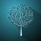 Tree Illustration on Blue Background Royalty Free Stock Image