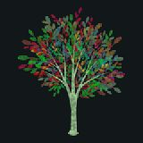 Tree illustration Stock Photo