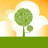 Tree. Illustration of Green tree for background Stock Image