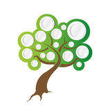 Tree illustration ready for info graphics. Royalty Free Stock Images