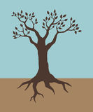Tree. Illustration of a tree in vintage colour Royalty Free Stock Photos