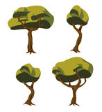 Tree illustrations set Royalty Free Stock Images