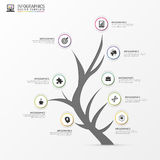 Tree infographic. Modern design template. Vector Stock Photo