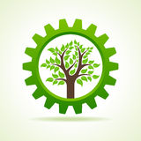 Tree inside the gear Royalty Free Stock Photo