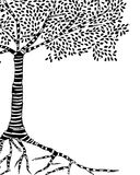 Tree isolated. Beautiful Detailed Ilustration of a tree made by hand Stock Images