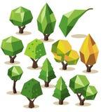 Tree Isometric set Stock Photos
