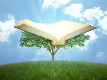 The tree of knowledge. Concept illustration Stock Image