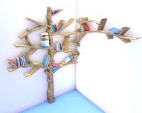 Tree of knowledge. Bookshelf Stock Image