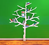 Tree of knowledge. Bookshelf Royalty Free Stock Photo