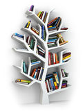 Tree of knowledge. Bookshelf on white background. Royalty Free Stock Images