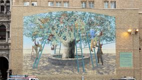`Tree of Knowledge`, a City of Philadelphia Mural Arts Program Creation by Michael Webb, 2003. Pictured is `Tree of Knowledge`, a City of Philadelphia Mural Arts stock photo