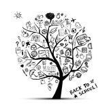 Tree of knowledge, concept of school. For your design, vector stock illustration