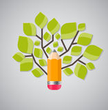 Tree of Knowledge Concept Vector Illustration Stock Image
