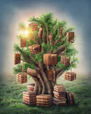 Tree of knowledge royalty free illustration