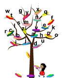 Tree of Knowledge. Vector illustration of a tree with the books vector illustration