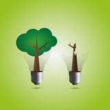 Tree lamp. The broken tree lamp by illustrations Royalty Free Stock Images