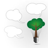 Tree lamp. Creative ideas by concept power of thinking tree lamp Royalty Free Stock Photography