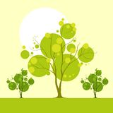 Tree landscape with green leaves vector Stock Image