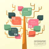 Tree leaf infographics design Royalty Free Stock Photo