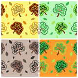 Tree and leaf. Seamless pattern with tree and leaf Royalty Free Stock Image