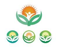Tree leaf vector logo design, eco-friendly concept. Tree leaf vector logo design eco-friendly concept royalty free illustration
