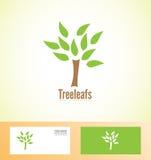 Tree leafs logo icon nature bio Stock Photos