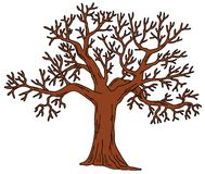 Tree without leaves Royalty Free Stock Photo