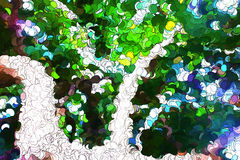 Tree leaves abstract painting Royalty Free Stock Image
