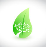 Tree and leaves concept illustration design Stock Photo