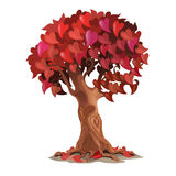 Tree with leaves are heart-shaped, romantic symbol Stock Photography