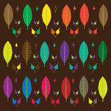 Tree leaves multi-colored Royalty Free Stock Image