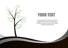 Tree and leaves and space for text Stock Image