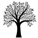 Tree with leaves vector Stock Photo