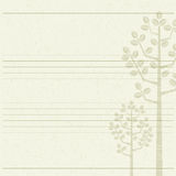 Tree letter paper. Wood stripes background Stock Images