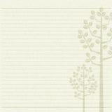 Tree letter paper. Wood stripes background stock illustration