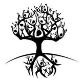 Tree of life. Silhouette of a tree created from humanoid shapes