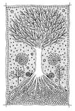 Tree of life. Art symbol pictures. Fantasy and mystic Stock Photos