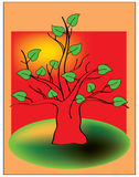 Tree of life. Color drawing of deciduous tree Royalty Free Stock Photos