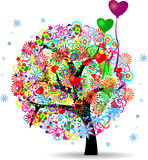 The Tree Life With Balloons Stock Photography