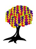 Tree of life. Bright gradient colors. Art picture. Tree of life. Bright gradient colors: red, purple, yellow, green, blue. Vector graphics art picture Stock Image