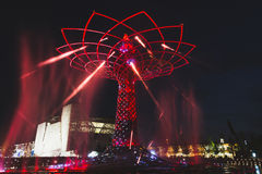 Tree of Life in the evening at Expo 2015 in Milan, Italy Royalty Free Stock Images