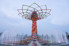 The Tree of Life at EXPO 2015 in Milan, Italy Royalty Free Stock Image