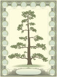 Tree of life - genealogy. 2D image made in format royalty free illustration