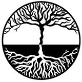 Tree of Life. Handmade Tree of Life Symbol vector illustration