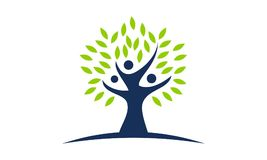 Tree of Life Healing Center. Logo Design Template Vector Royalty Free Stock Image
