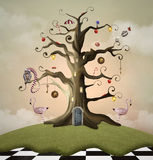 Tree of life house. Wonderland series - Tree of life house Royalty Free Stock Photo